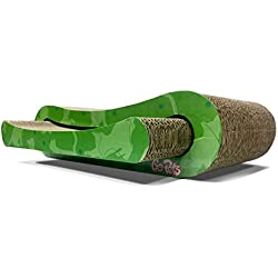 GoPets Premium Cat Scratcher by, Infinity Lounge Corrugated Cardboard is Reversible With Additional Insert Lasts 4x Longer, Includes 1 Pack Catnip, Ergonomic Scratching Post, Cutouts to Hide Toys
