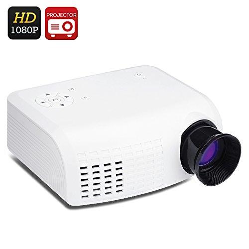 Mini HD LCD Projector (1080p, 100 Lumens, 800:1, 30W LED Bulbs, HDMI) B07BL1HYJ2