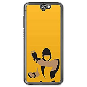 Loud Universe Scorpion Mortal Kombat HTC A9 Case Yellow HTC A9 Cover with Transparent Edges