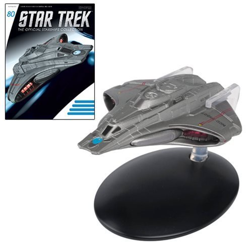 Star Trek Starships Federation Scout Ship Die-Cast Vehicle with Collector Magazine #80