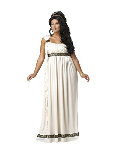 California Costumes Plus-Size Olympic Goddess Dress, Cream, 2XL (18-20) Costume