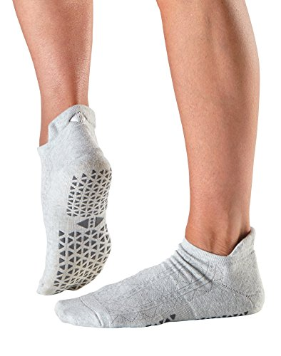 Tavi Noir Savvy Organic Knit Low Rise Grip Socks (Tavi Smoke) Small