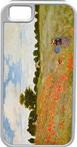 lintao diy Rikki KnightTM Claude Monet Art Poppies White Tough-It Case Cover for iPhone 4 & 4s (Double Layer case with Silicone Protection)