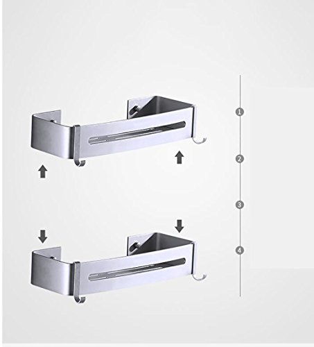 YAOHAOHAO Bathroom shelving bath rooms, rack, aluminum ADB support. single wall-layer bath rooms shower Rack Rack (Color (a) by YAOHAOHAO (Image #3)