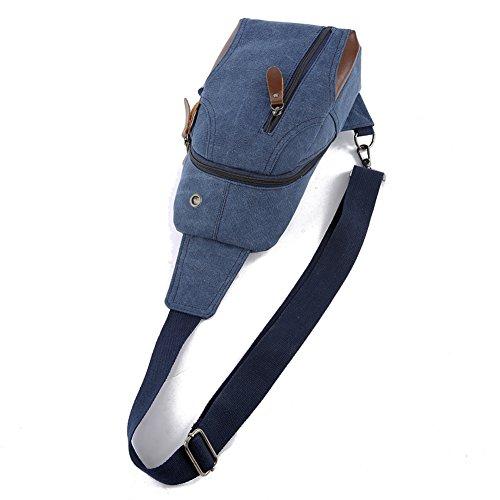 YanRun - Bolso al hombro para hombre Azul