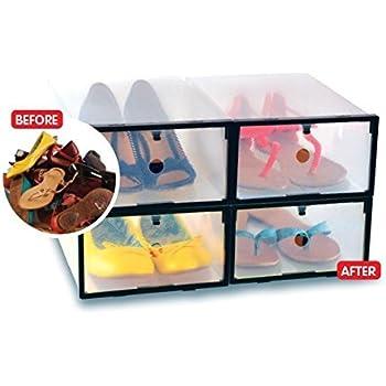 Shoe Storage Boxes | Clear Storage Box u0026 Organizer | Storage Solution u0026 Organization (4  sc 1 st  Amazon.com & Amazon.com: Shoe Storage Boxes | Clear Storage Box u0026 Organizer ...