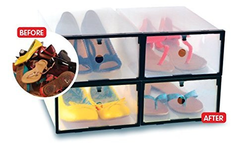 Clear Storage Box & Organizer | Storage Solution & Organization (4 pack) ()