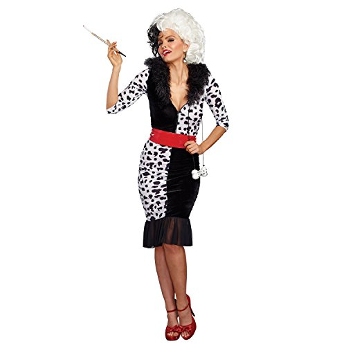 Dreamgirl Women's Dalmatian Diva, Black/White, M]()