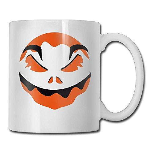 DFNRF Halloween Pumpkin Face 11oz Ceramic Coffee Mugs Idea Birthday Christmas and Inspirational Gift ()