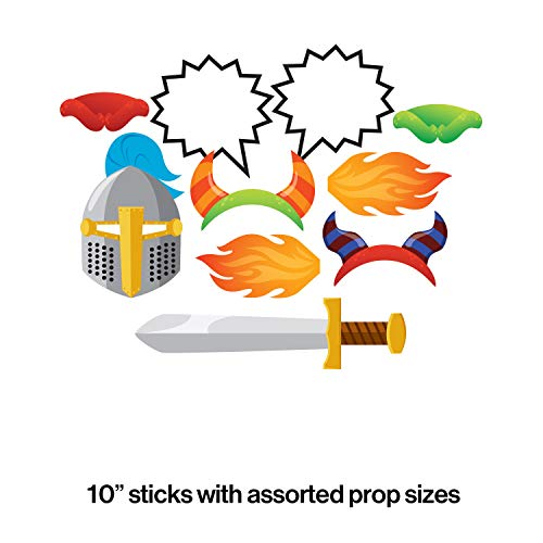 Creative Converting 324404 Assorted Photo Booth Dragons Party Props (10 -