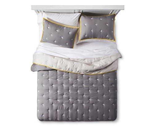 Pillowfort-Egyptian-Desert-Embroidery-3-pcs-Comforter-Set-Gray-FullQueen