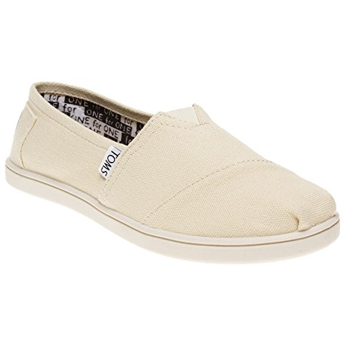Toms - Youth Natural Canvas Classic Shoes, Size 1 US