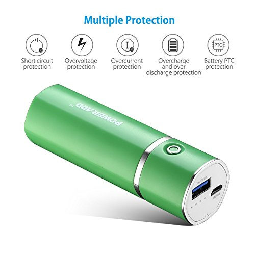 Poweradd Slim 2 Portable Charger 5000mAh External Battery Stick with Smart Charge for iPhone, iPad, Samsung Galaxy and More - Green by Poweradd (Image #5)