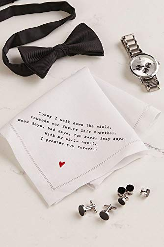 Groom Love Note Handkerchief Style 98110004, White by David's Bridal (Image #4)