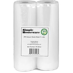 SimpleHouseware Commercial Vacuum Sealer Rolls Food Storage Saver - 2 Pack