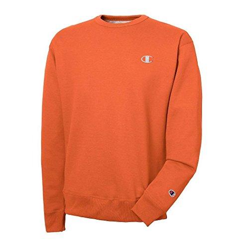 Fleece Crewneck Pullover - Champion Men's Big & Tall Fleece Crewneck Pullover Sweatshirt (2XT, Orange)