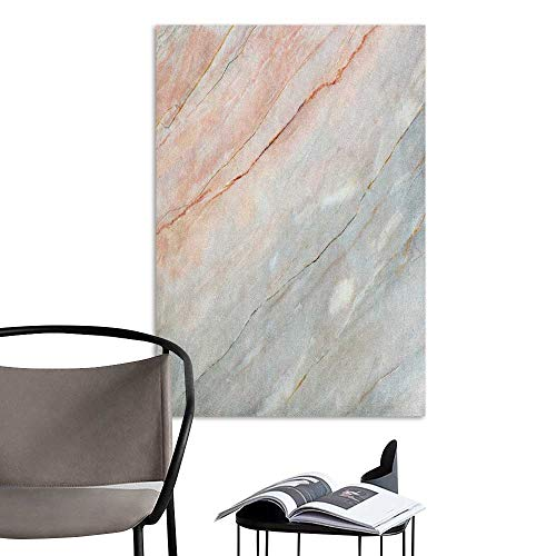 - Art Decor 3D Wall Mural Wallpaper Stickers Marble Onyx Stone Textured Natural Featured Authentic Scratches Artful Illustration Peach Pale Grey Sofa Background Wall W8 x H10