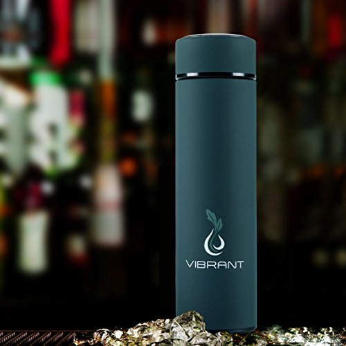 Vibrant All In One Travel Mug Tea Infuser Bottle With 2