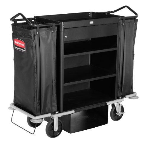 Rubbermaid-Commercial-1805988-Executive-Deluxe-High-Capacity-Housekeeping-Cart-with-Locking-Drawer