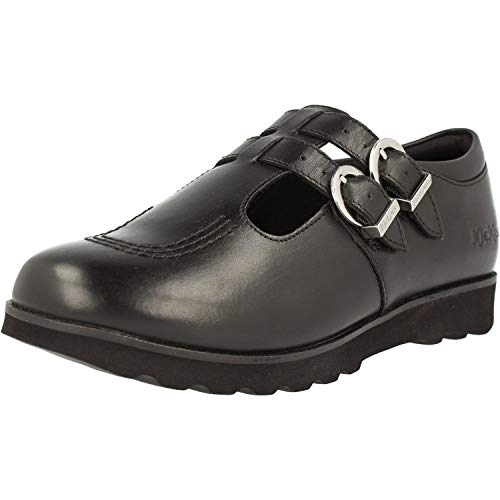 Kickers Kick C Lite Twin Y Black Leather 4 M US Big Kid
