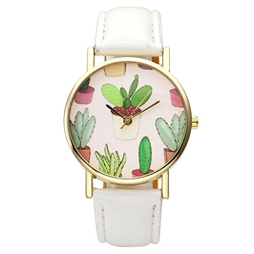 Top Plaza Cactaceae Leather Girls White