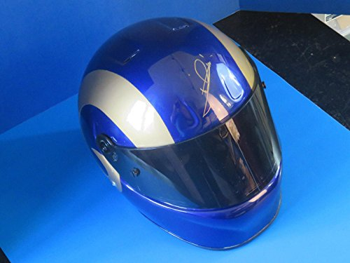 Mario Andretti Signed ~ Prototype Auth La Rams Full Size Racing Helmet, loa - JSA Certified - Autographed NASCAR Helmets