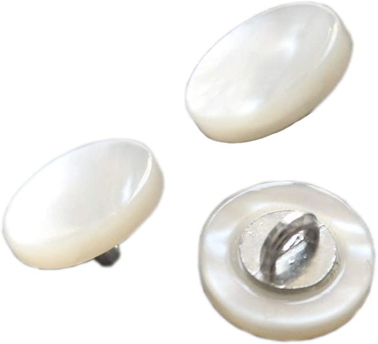 Large Pearl Dome Shank Buttons Ivory Craft Wholesale Clothes 18mm