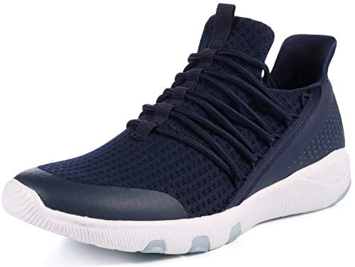 JOOMRA Tennis Shoes for Men Blue Running Walking Fitness Crossfit Street Footwear for Man Lightweight Workout Casual Daily Athletic Sneakers Size -