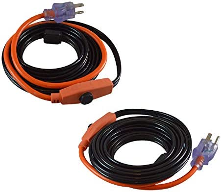 GardenHOME Cold Weather Valve and Pipe Heating Cable, 6 Feet, 2-Pack, Black