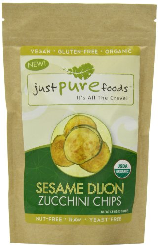 Just Pure Foods Organic Vegetables and Seasoning, Sesame Dijon Zucchini Chips, 1.5 Ounce