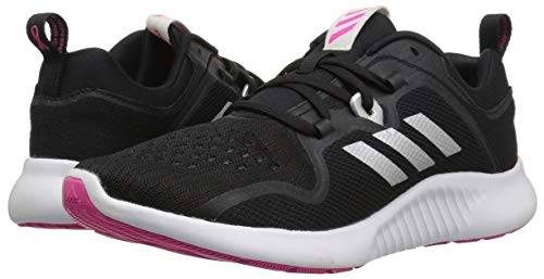 adidas Women's EdgeBounce Running Shoe Black/Silver Metallic/Shock Pink 5 M US by adidas (Image #5)