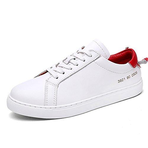 Zapatitos blancos/Zapatillas de damas/Zapatos blancos/ zapatos flat-bottom E