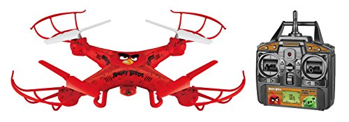 World Tech Toys Angry Birds Licensed Squak Copter RED Camera Drone 2.4GHz 4.5 CH Picture/Video Camera RC Quadcopter, Red, 22 x 4 x 14.5