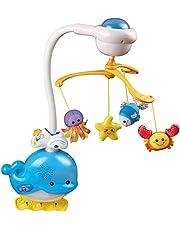 لعبة عليقة موسيقية شكل كائنات بحرية لسرير الاطفال من في تك - متعددة الالوان