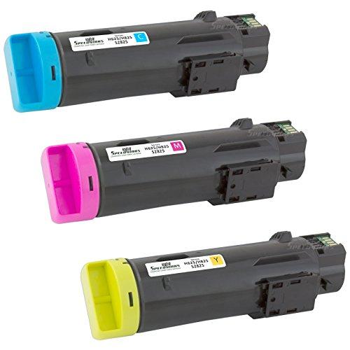 Speedy Inks - 3PK Compatible CMY Toner Cartridge for Dell H625/H825 Laser Printers 593BBOX 593BBOY 593BBOZ for use in Dell H625cdw,Dell H825cdw,Dell S2825cdn
