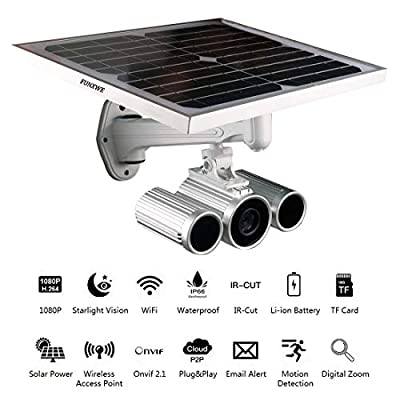 Funxwe 1080P Full-HD Solar Power WiFi IP Camera P2P Wireless AP Network 2.0 Megapixels Starlight Night Vision Outdoor Battery Powered by Funxwe Technology Co,. Ltd.