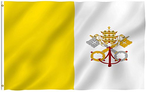 Vatican City Flag - Vatican Flag 3ftx5ft Polyester