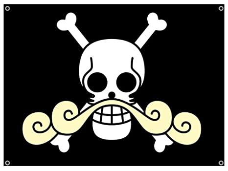 amazon com one piece gold roger pirates flag wall scrolls other