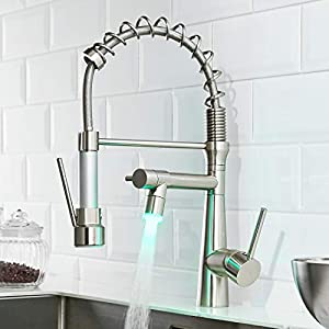 TIMACO Robinet de cuisine avec ressort en spirale robinet et douchette extensible à 360° Pivotant