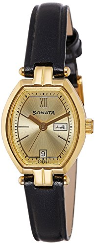 Sonata Analog Gold Dial Women's Watch - 8083YL03