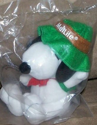 peanuts-5-plush-metlife-snoopy-scout-or-camper-with-green-hat-and-backpack