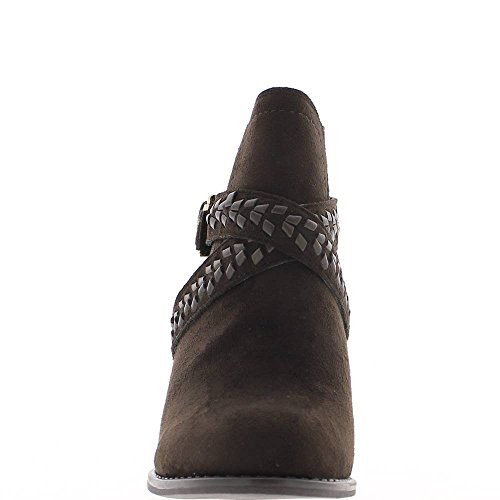 Low boots Brown faux suede heel 7,5cm and flanges