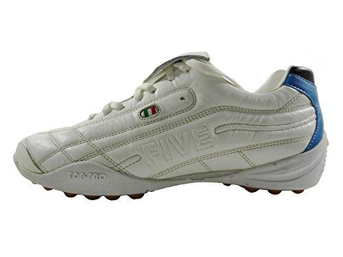 AGLA Professional Five Touch Outdoor zapatos fútbol futsal con anti-shock blanco