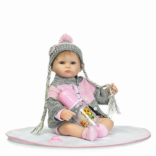 markids 17インチ/ 42 cmハンドメイドシリコンReborn Dollsソフト赤ちゃんのおもちゃギフト子供布ボディ   B07B9285PD