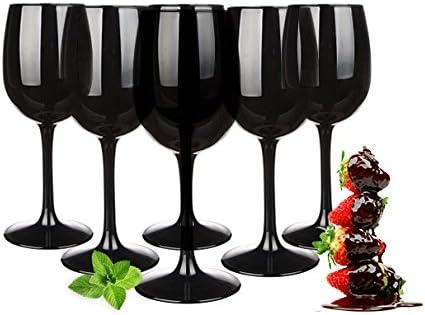 Set de copas de vino 300ml en paquetes de 6Negra Copas de vino tinto vino blanco copas de vino copas