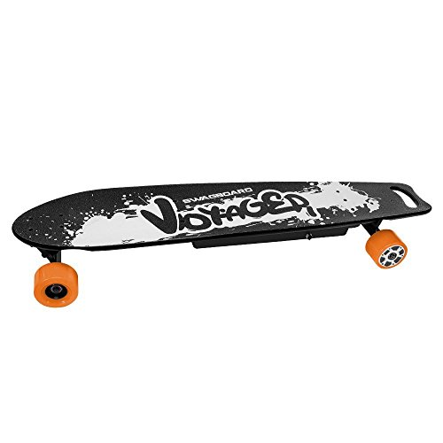 Swagtron SwagBoard Voyager Electric Longboard – Motorized skateboard w/Remote & Dual 350W Motorized Wheels; Holds 330Lbs