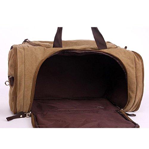 ZC&J Bolso al aire libre del recorrido de la capacidad de 36-55L, conveniente para los hombres y las mujeres bolso en forma de tambor bolso impermeable del recorrido, abertura lateral, desgaste sólido A