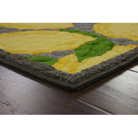 Lemon Kitchen Rug with Latex backing, 1'8