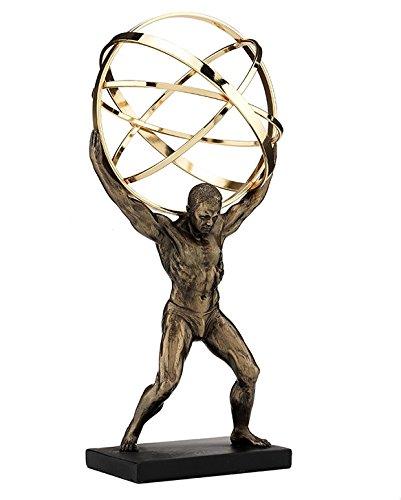 9 Greek God Atlas Carrying Celestial Spheres Statue Sculpture Figurine World