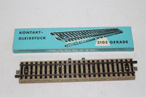 MARKLIN HO M Tracks All Metal Contact Straight Section Track 5105 for Remote Controls